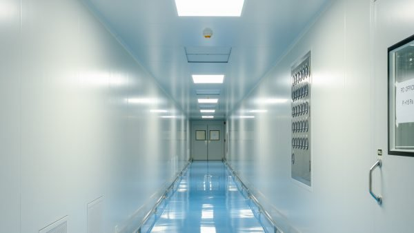 Cleanroom hallway